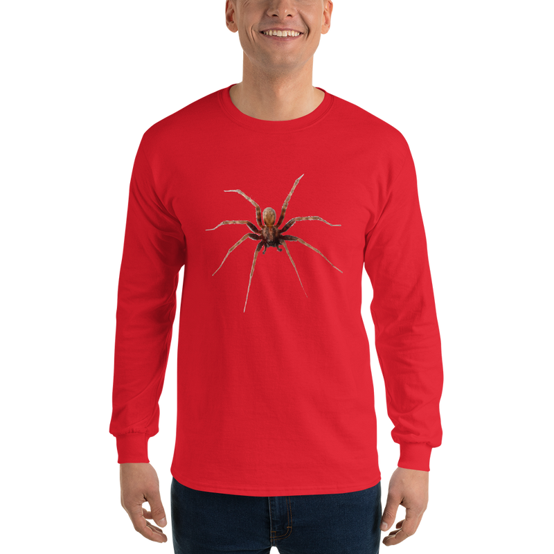 Jerry's Apparel Red / S Men's Long Sleeve Spider Shirt