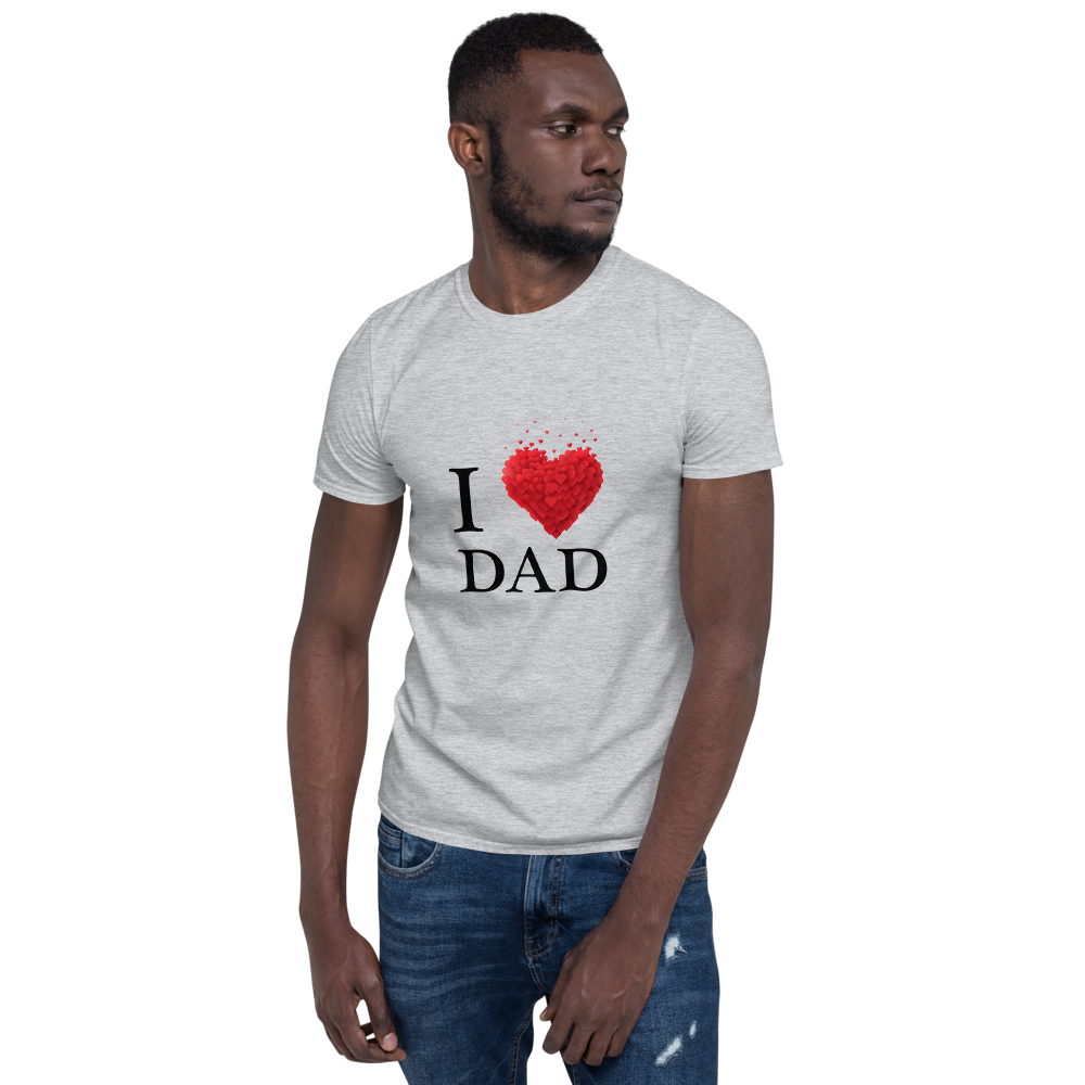 Jerry's Apparel Sport Grey / S I Love Dad T-Shirt