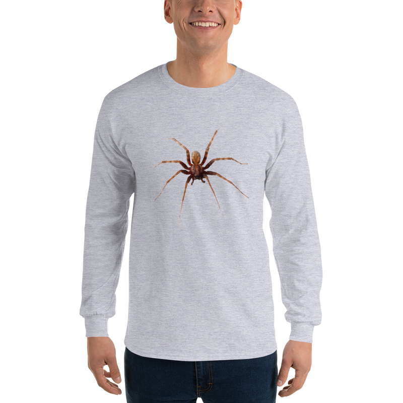 Jerry's Apparel Sport Grey / S Men's Long Sleeve Spider Shirt