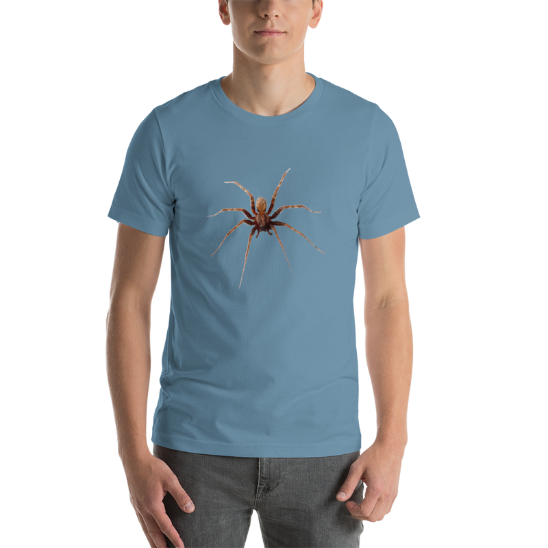 Jerry's Apparel Steel Blue / S Spider Short-Sleeve Unisex T-Shirt