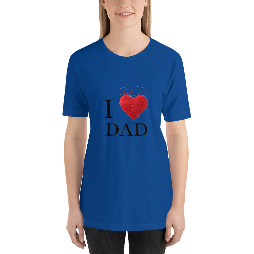 Jerry's Apparel True Royal / S I Love Dad T-Shirt