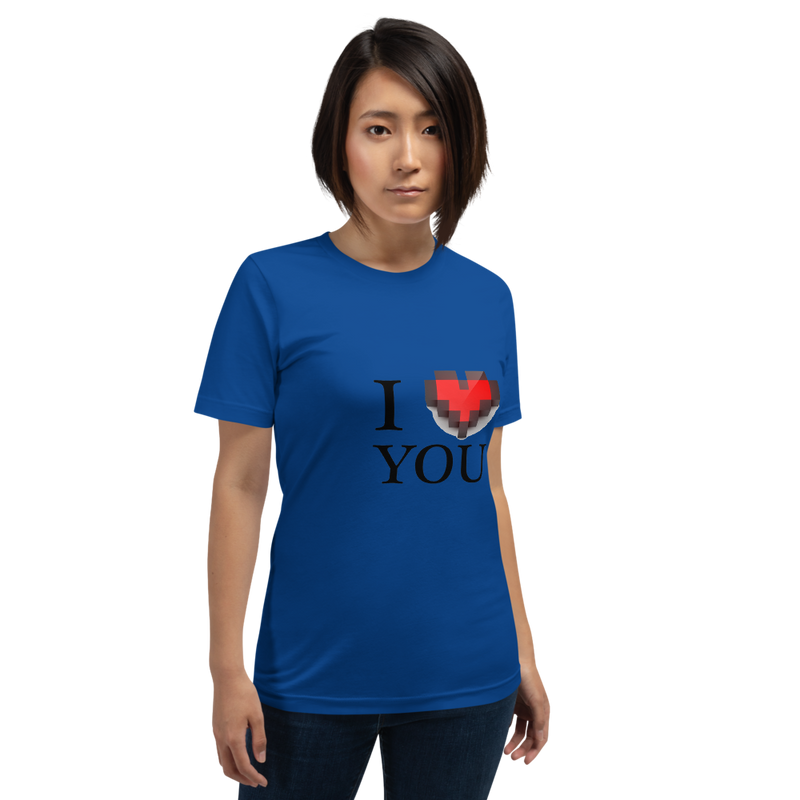 Jerry's Apparel True Royal / S I Love You T-Shirt