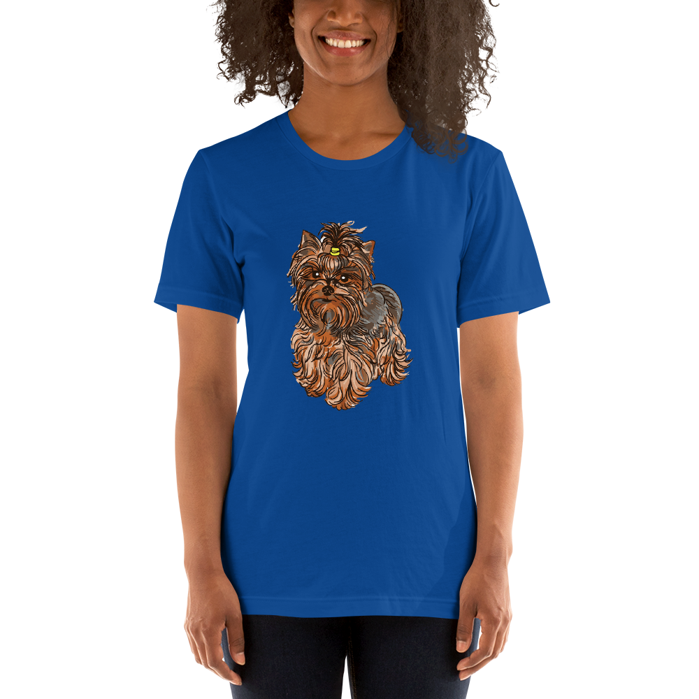 Jerry's Apparel True Royal / S Yorkie Terrier T-Shirt
