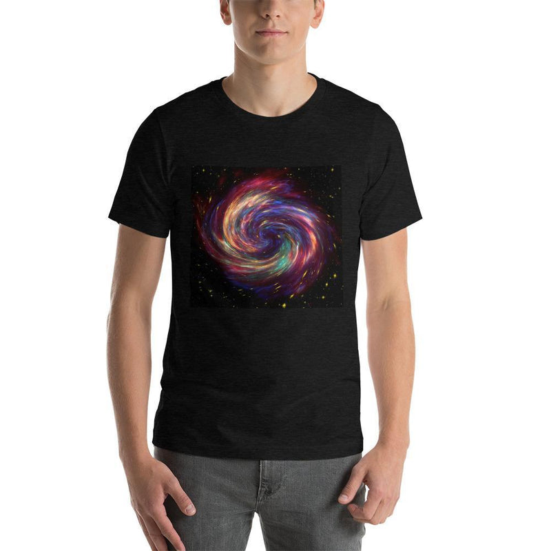 Jerry's Apparel Unisex T-Shirts Black Heather / S Cassiopeia Supernova Spiral Galaxy Unisex T-Shirt
