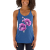 Women's Racerback Tank Purple Flower