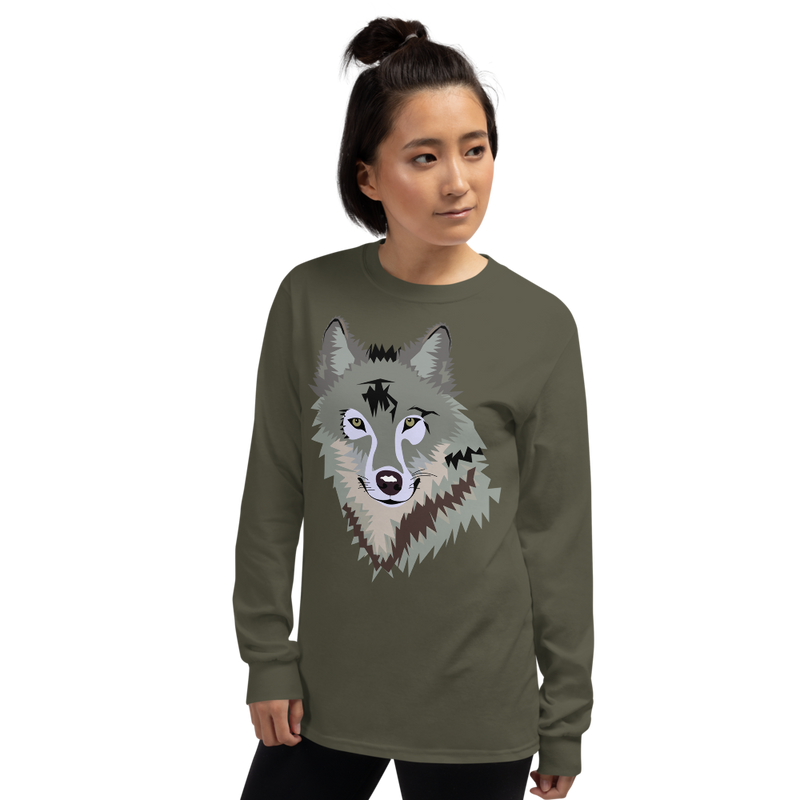 Women's Long Sleeve Wolf T-Shirt