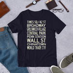 NYC Subway Travel Poster Short-Sleeve Unisex T-Shirt