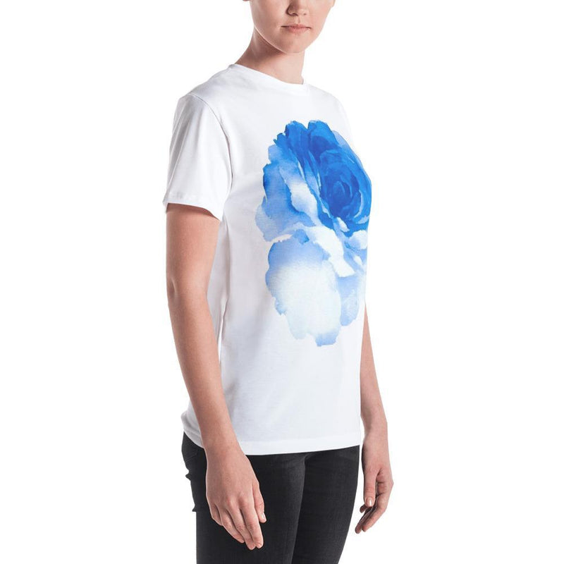 Jerry's Apparel Women T-Shirts Women's T-shirt Blue Rose