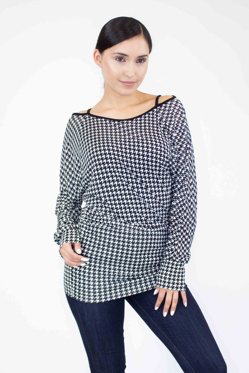 Stylespect Blouses Cold Shoulder Dolman Sleeve Top