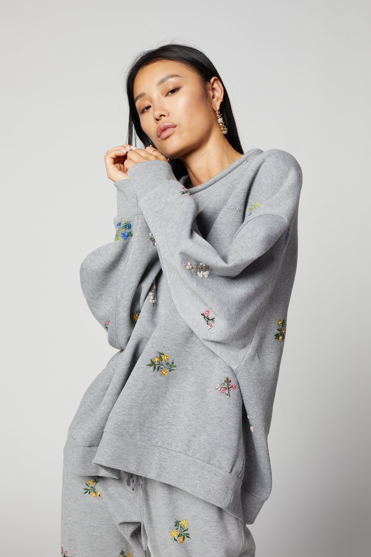 Jumper Harlem beaded embroidered fleece