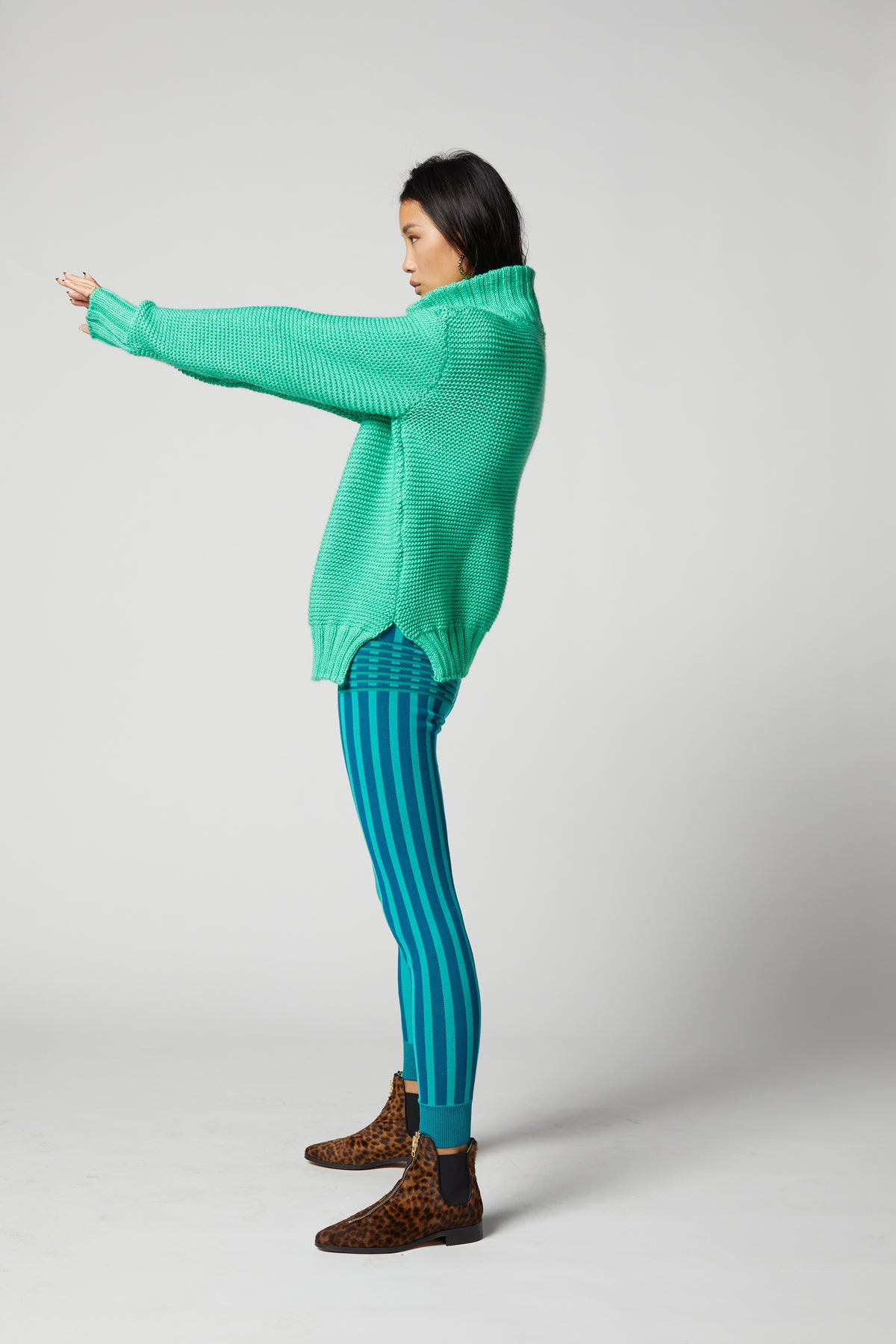 Glue legging in cobra knit