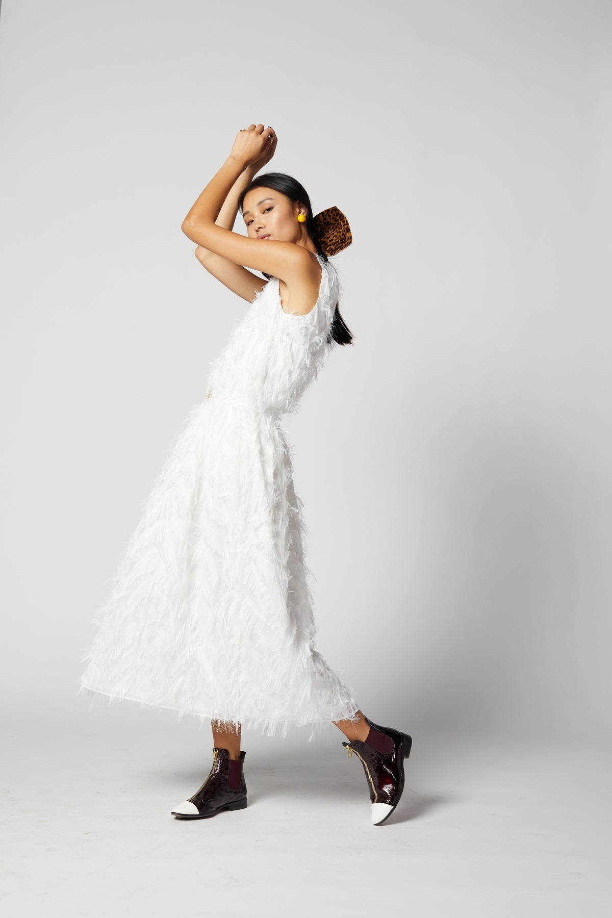 Orso skirt in white feather