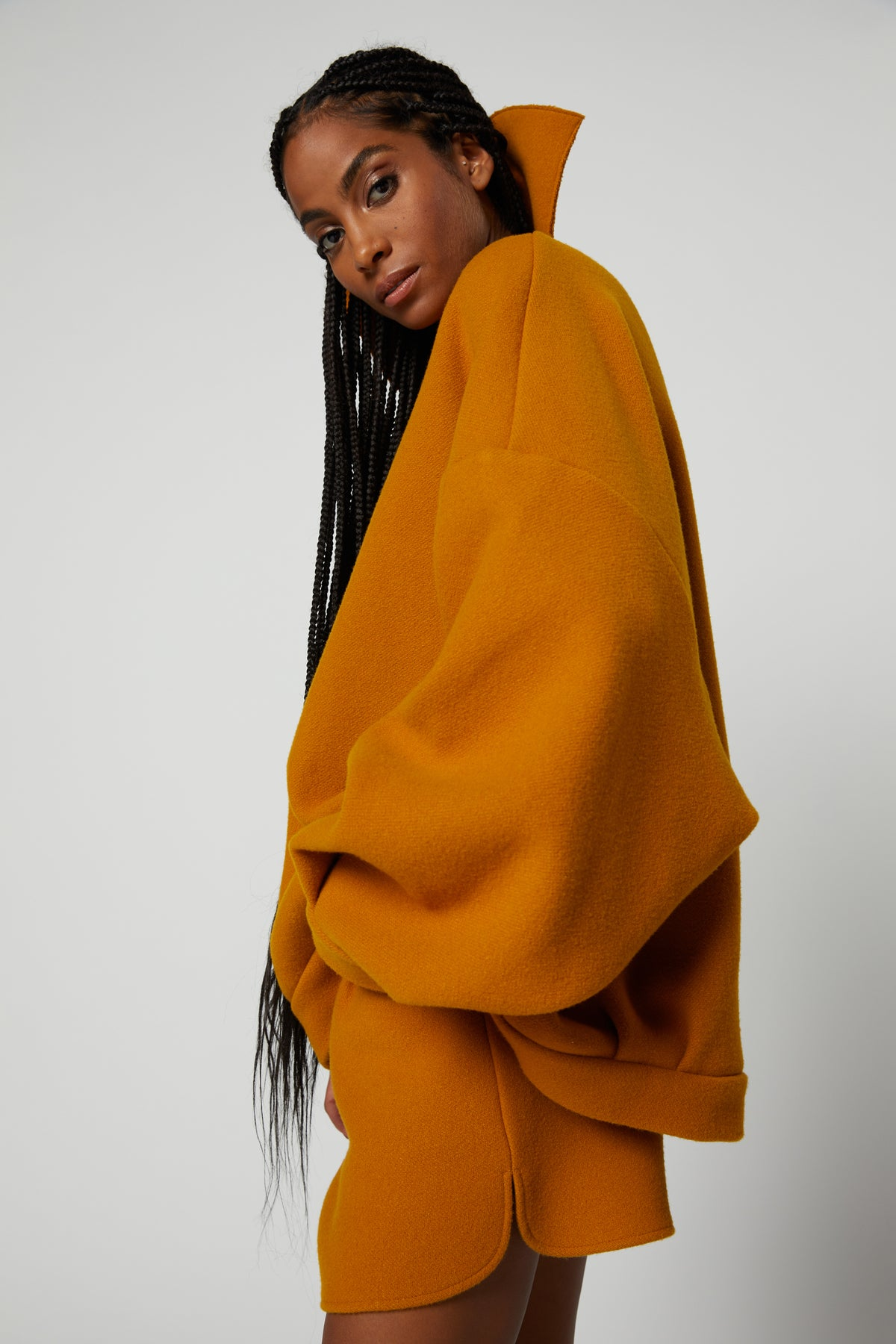 Jumper Harlem in tobacco wool and cashmere