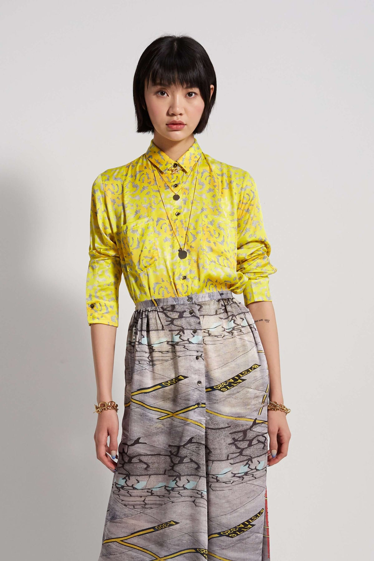 Dori shirt in halo print