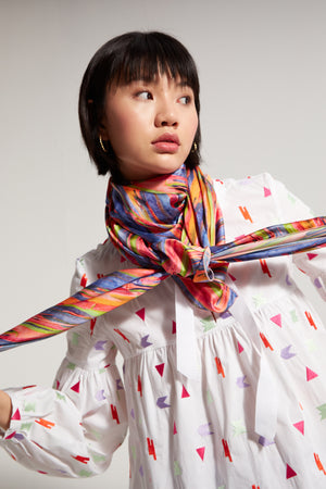 Sperone blouse in Neon embroideries