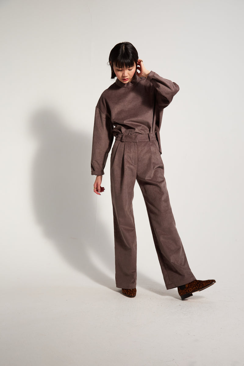 Moor pants in grey corduroy