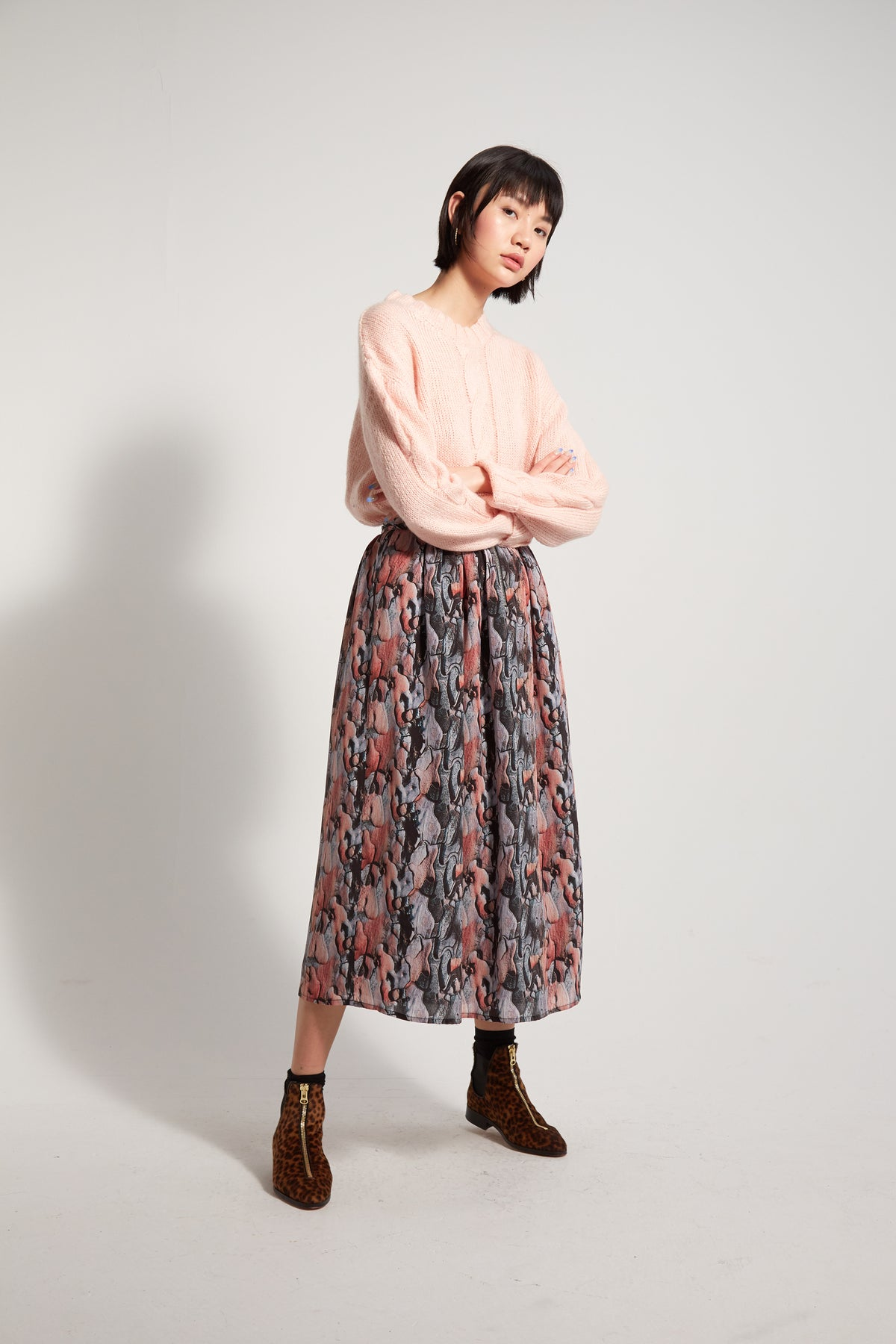 Orso skirt in Tree Bark print