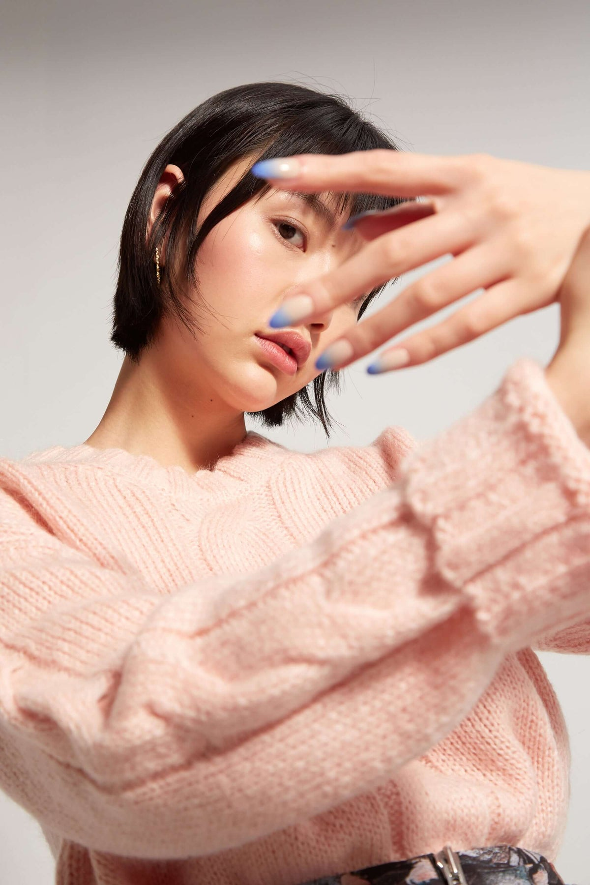 Ellis sweater in pink knit
