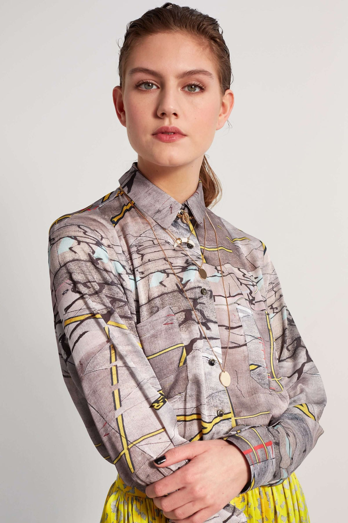 Dori shirt in tarmac print