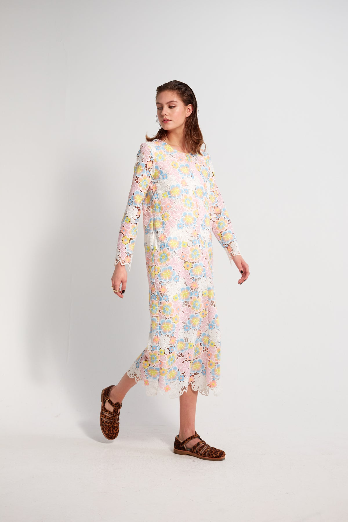 Marshall dress in rainbow lace