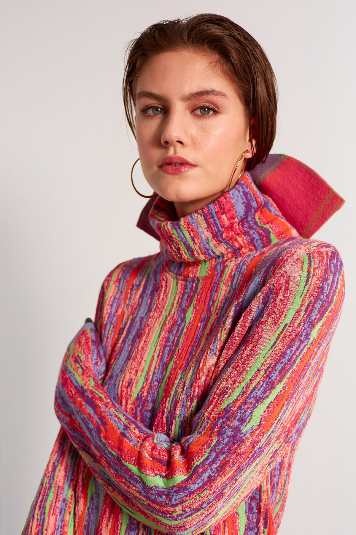 Slick turtleneck in Wynwood Intarsia knit
