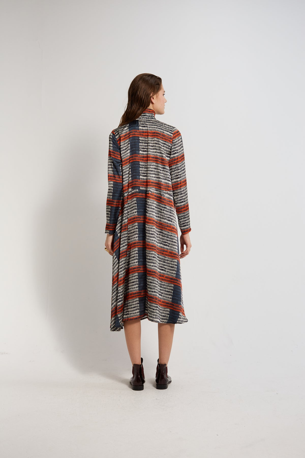 Java dress in Feather print