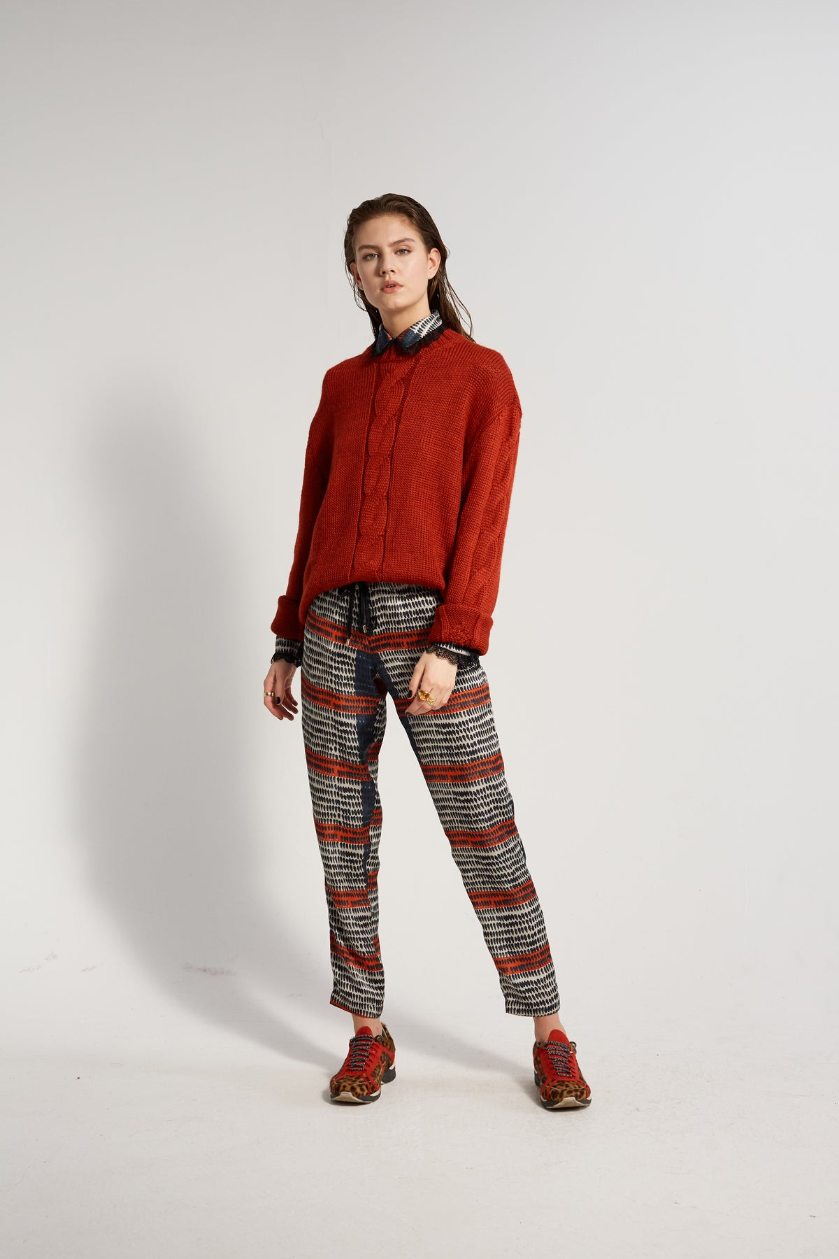 Melchior pants in Feather print