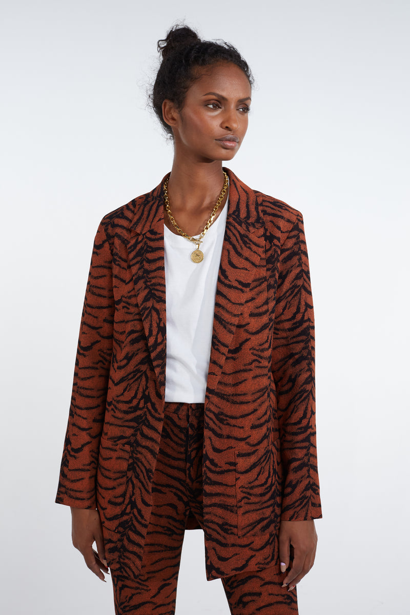 Sonny Crockett blazer in tiger print