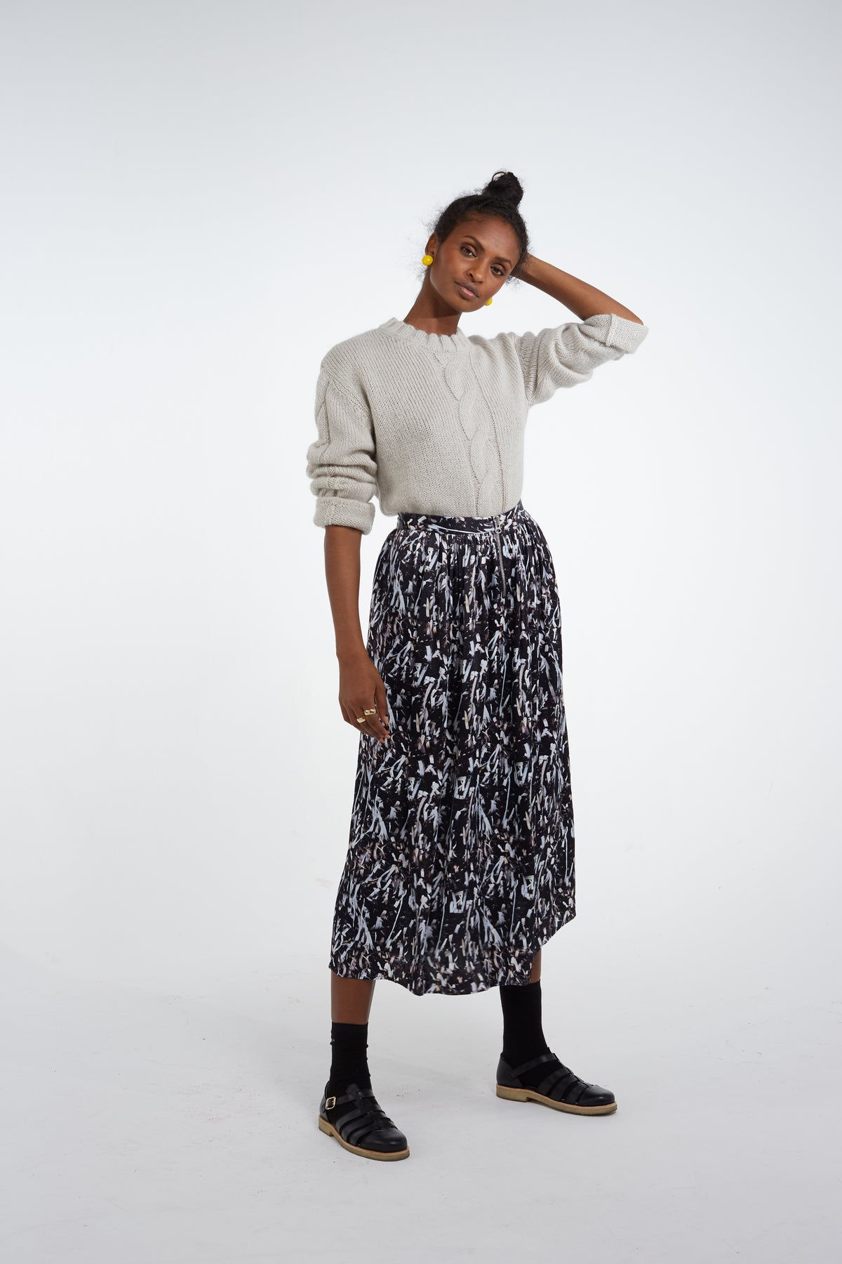 Orso skirt in papers print
