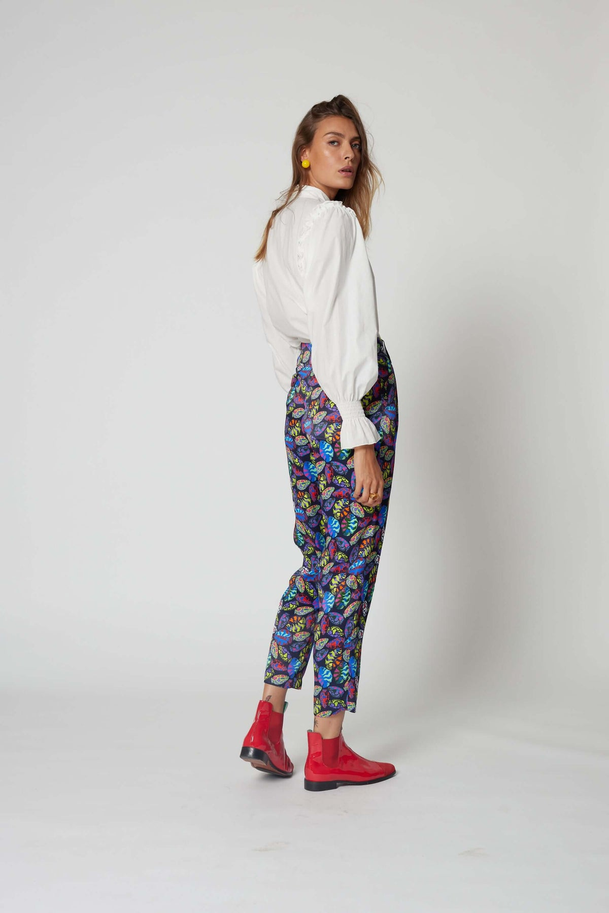 Gabriel pants in Gourami print