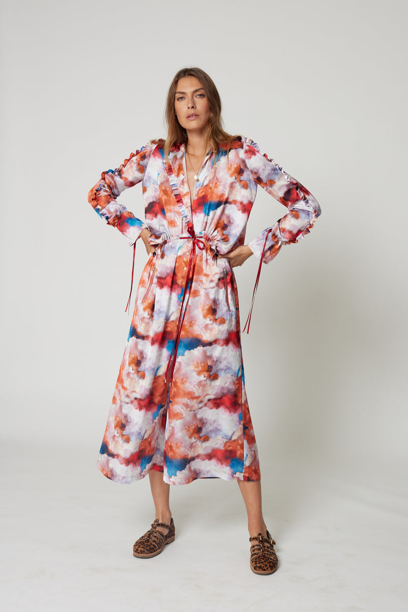 Gil jumpsuit in Madone print