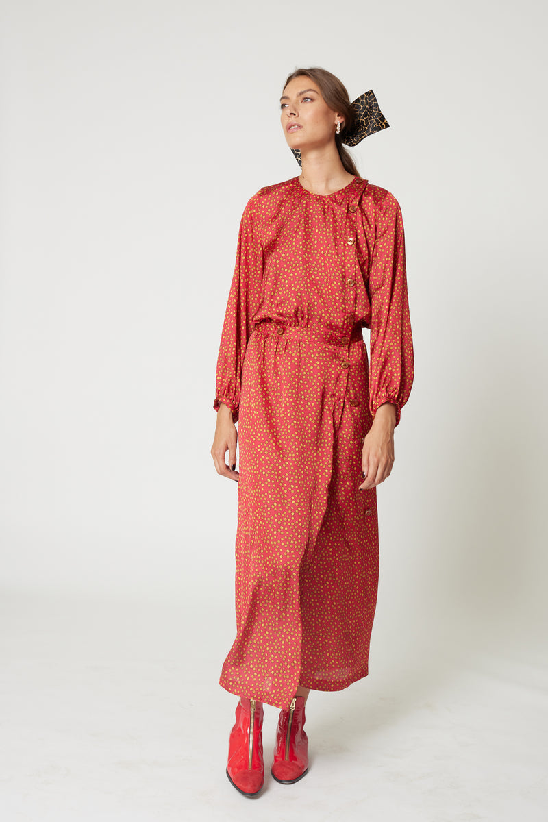 Robe Kelly en imprimé Messy Dots