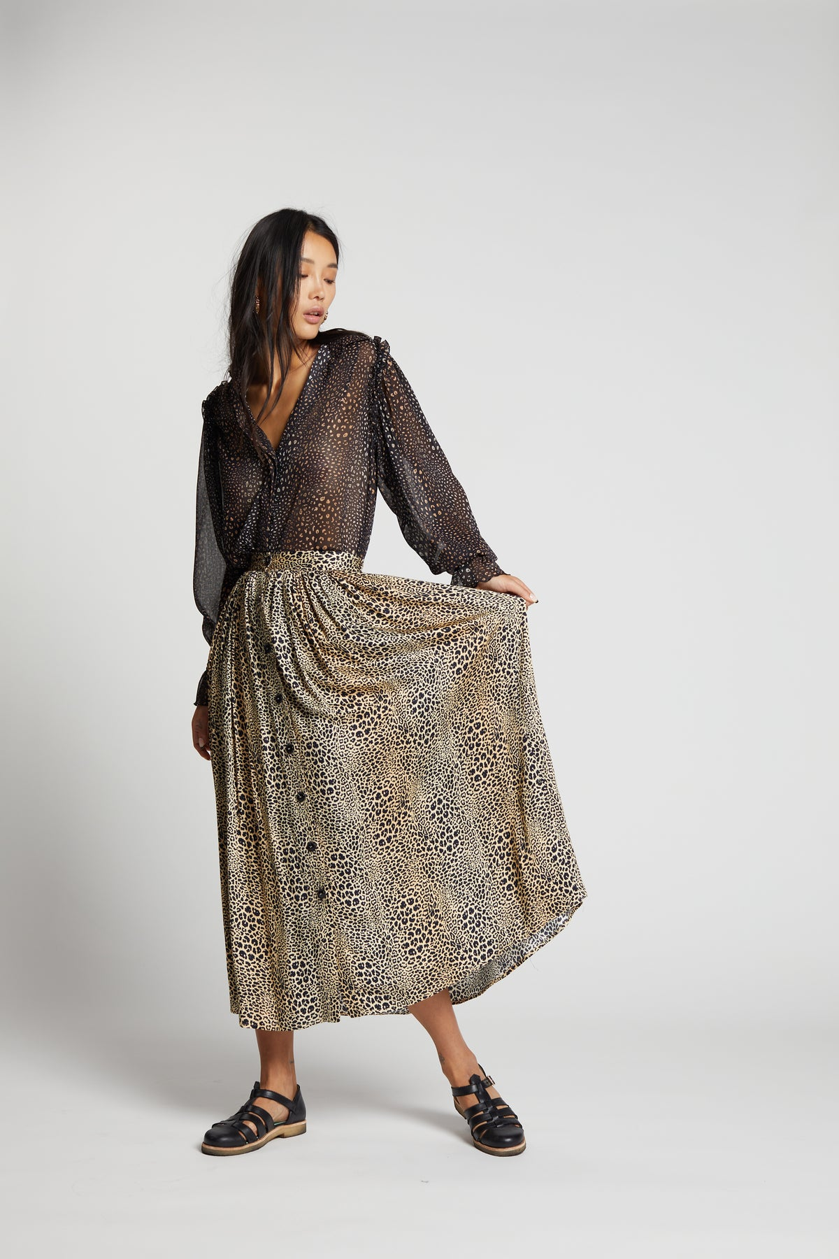 Orso skirt in Leopard print