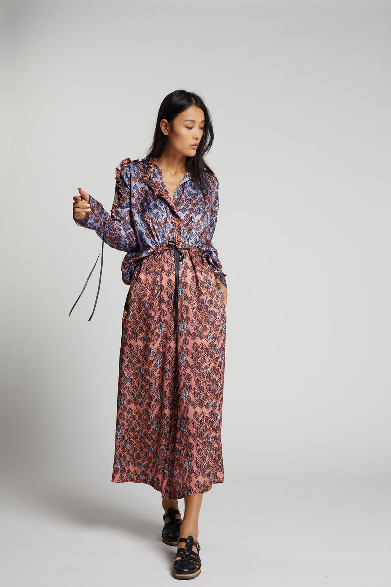 Gil jumpsuit in Leaf print