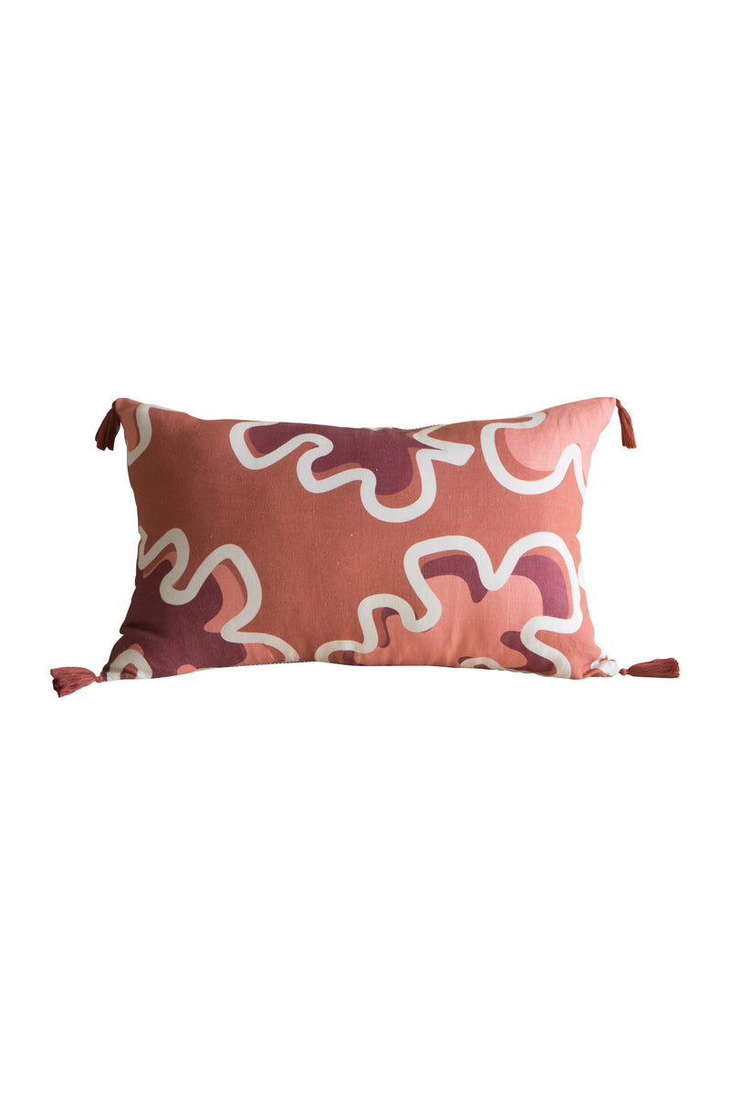 Heimstone x Gabrielle Paris - Cushion in XXL leaf and stripes print