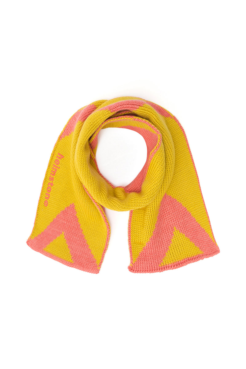 Ralph scarf in yellow knit