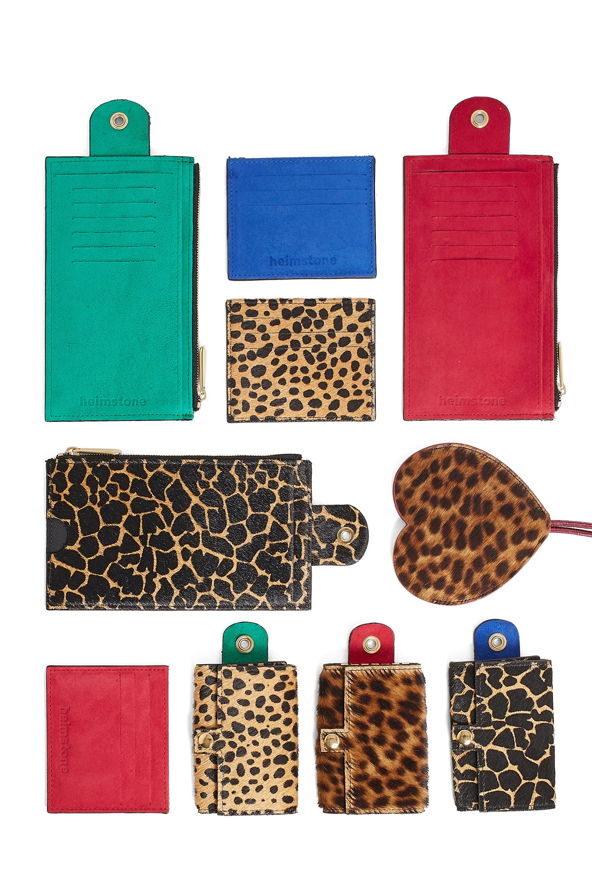 The Minis - 6 Key Holder in Giraffe printed leather