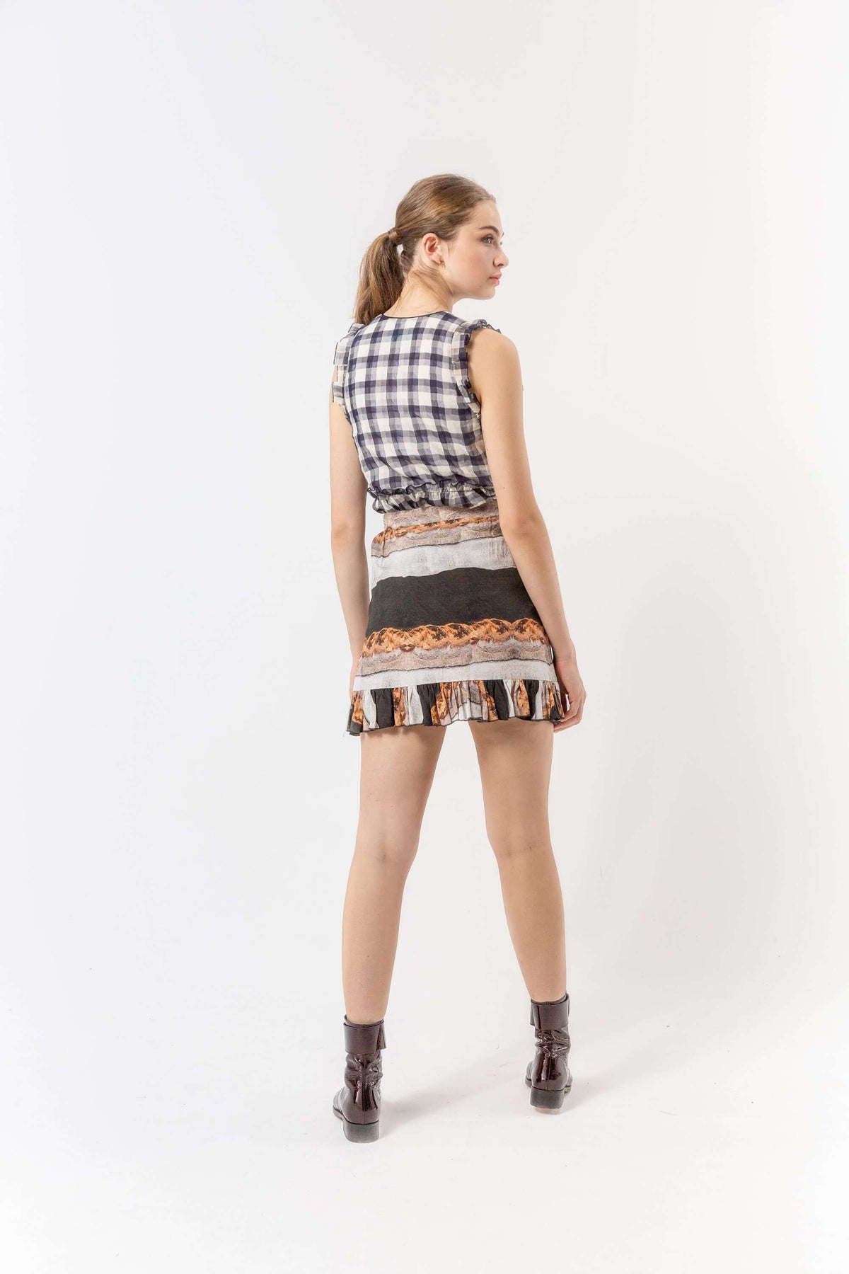 Austria skirt in stone print