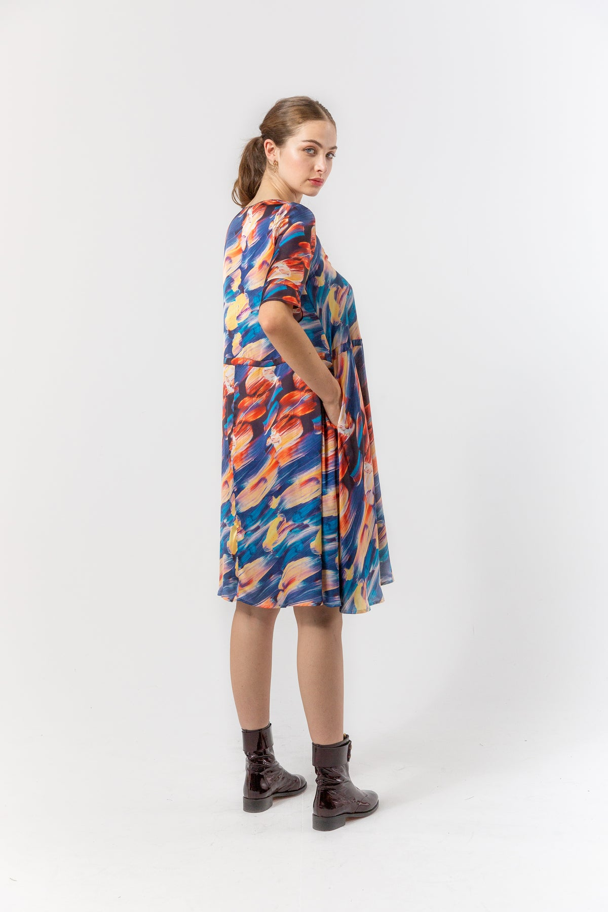 Java dress in ivresse print