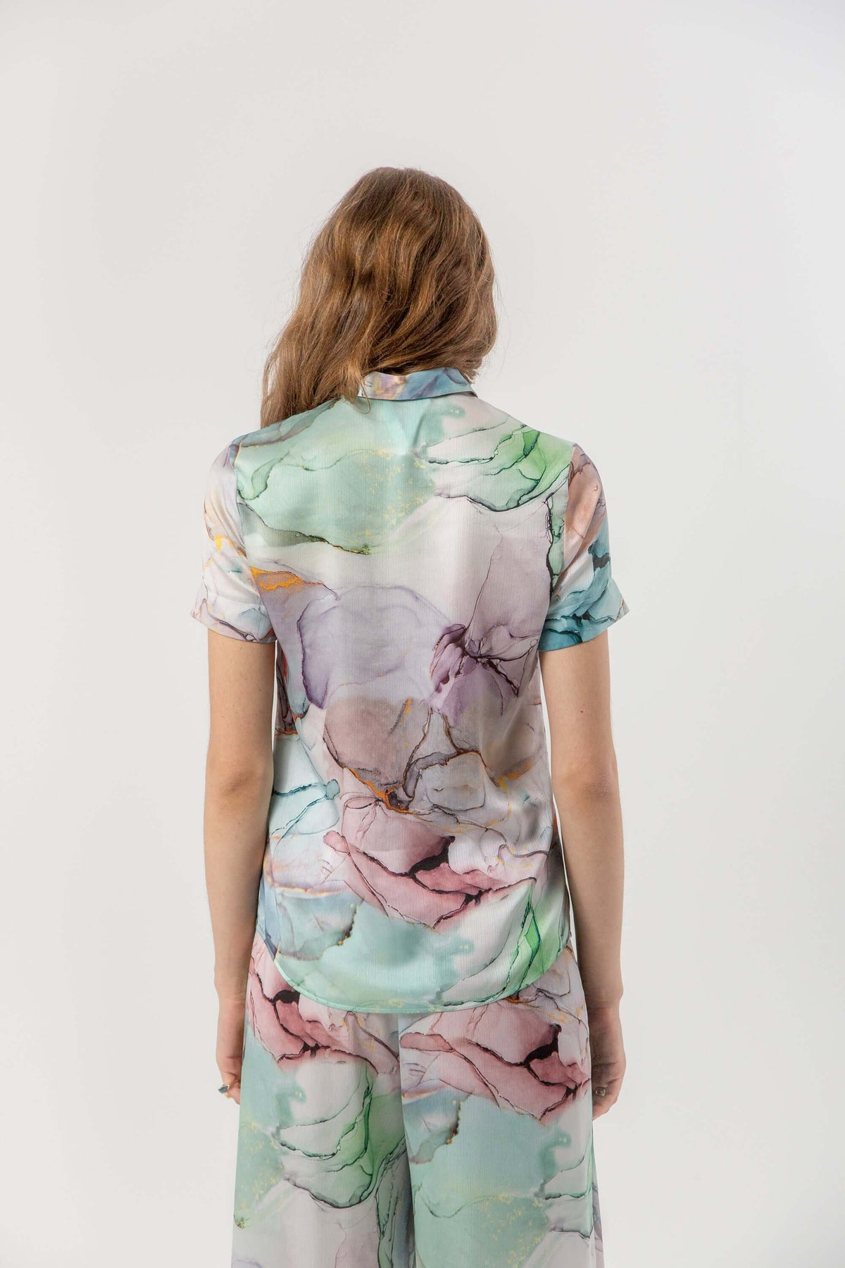 Doria shirt in aquarelle print