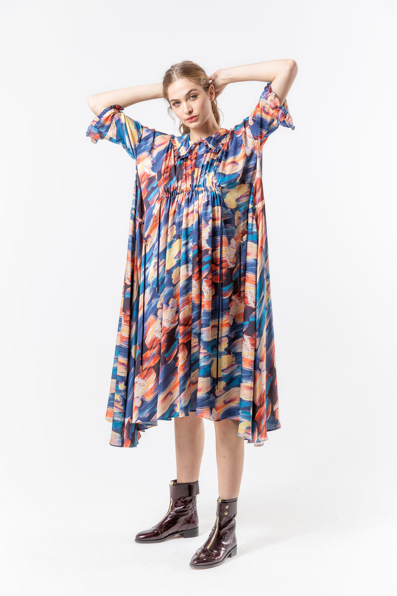 Scarlett dress in ivresse print