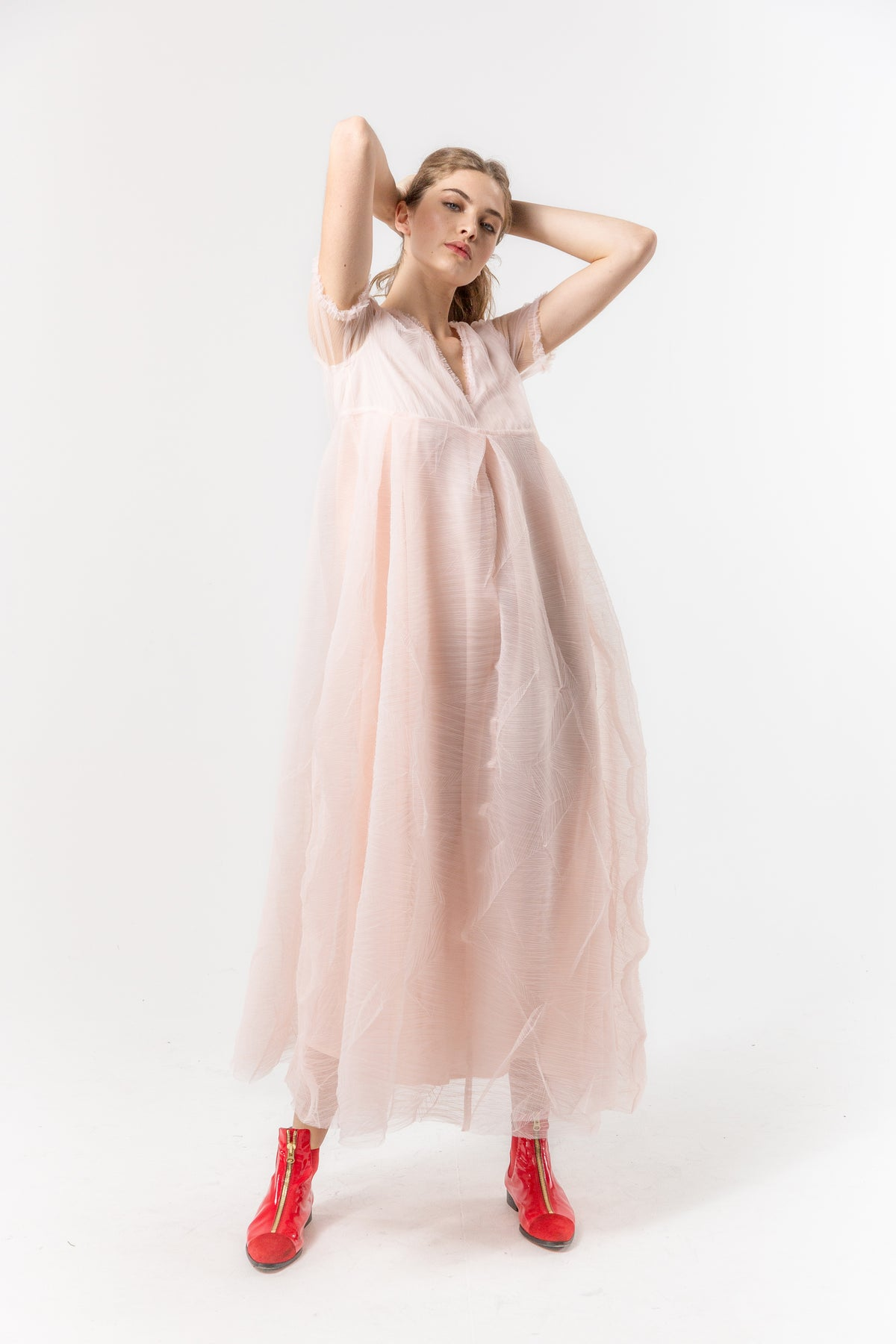 Mara dress in cotton candy tulle