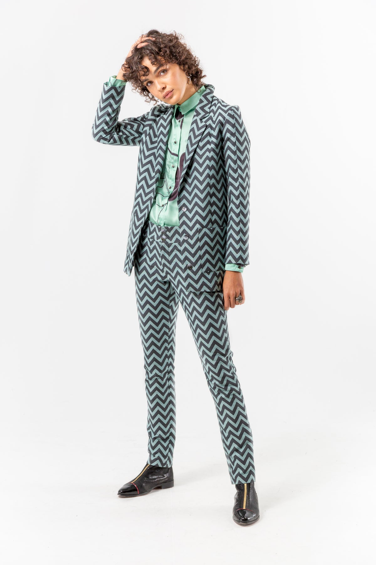 Sonny Crockett blazer in chevron fabric