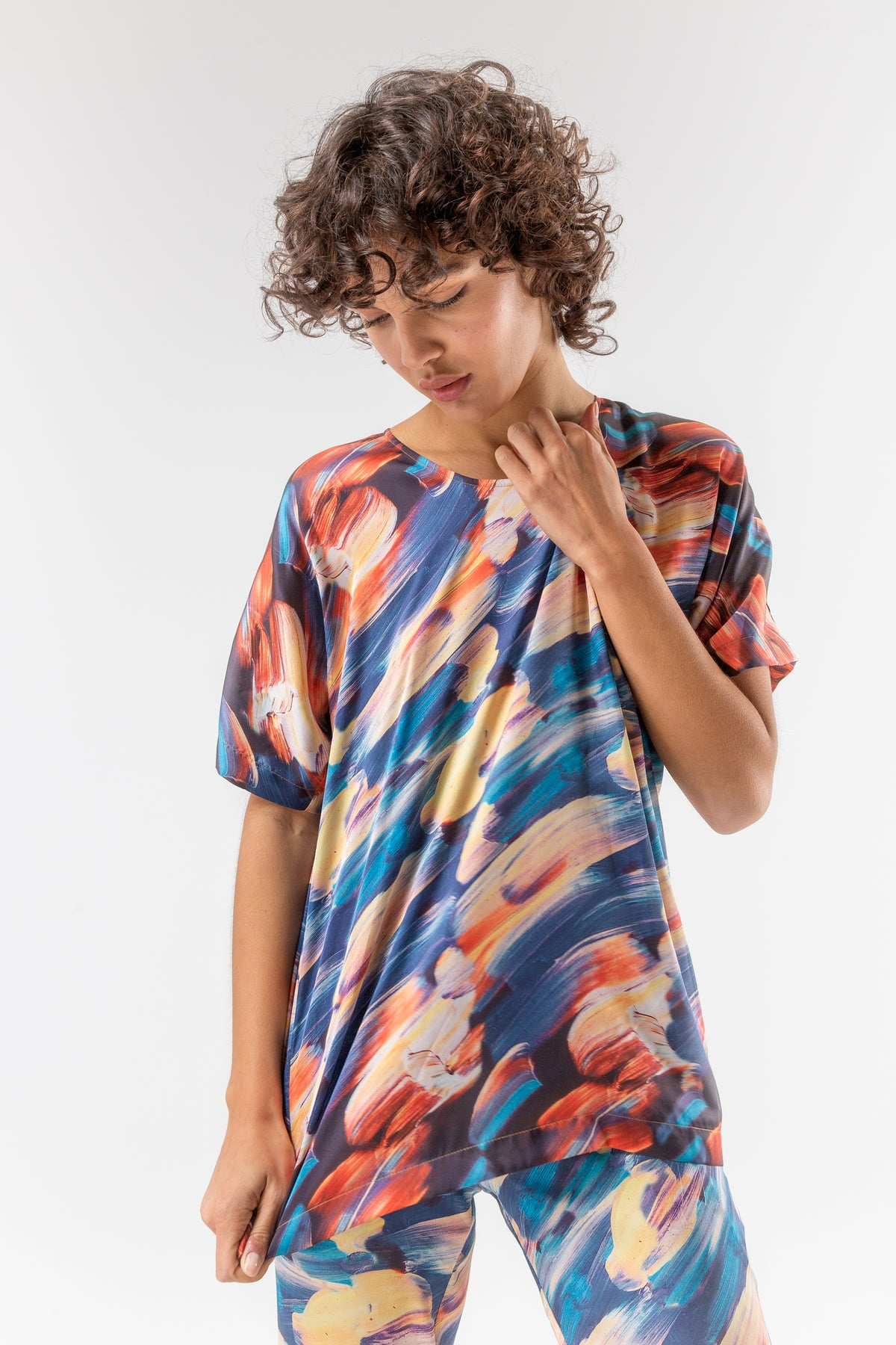 Wallace t-shirt in ivresse print