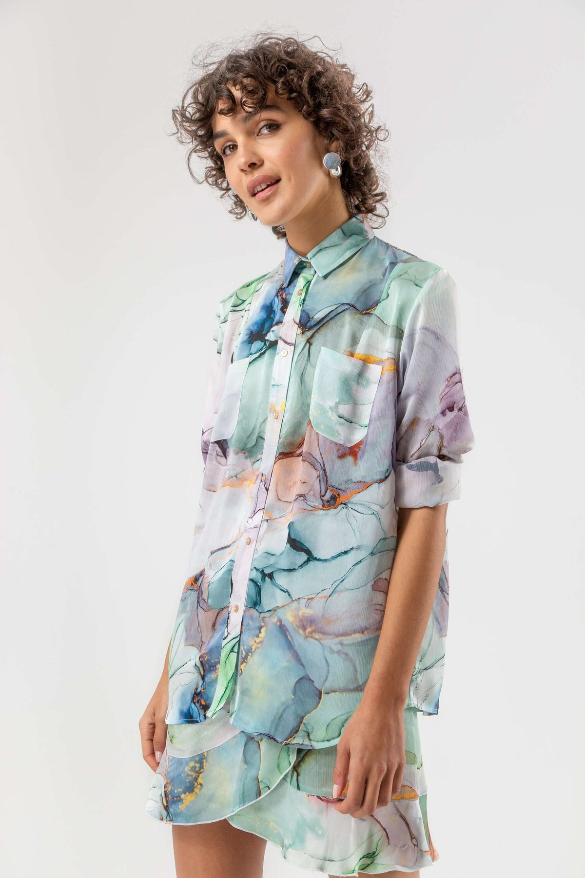 Dori shirt in aquarelle print