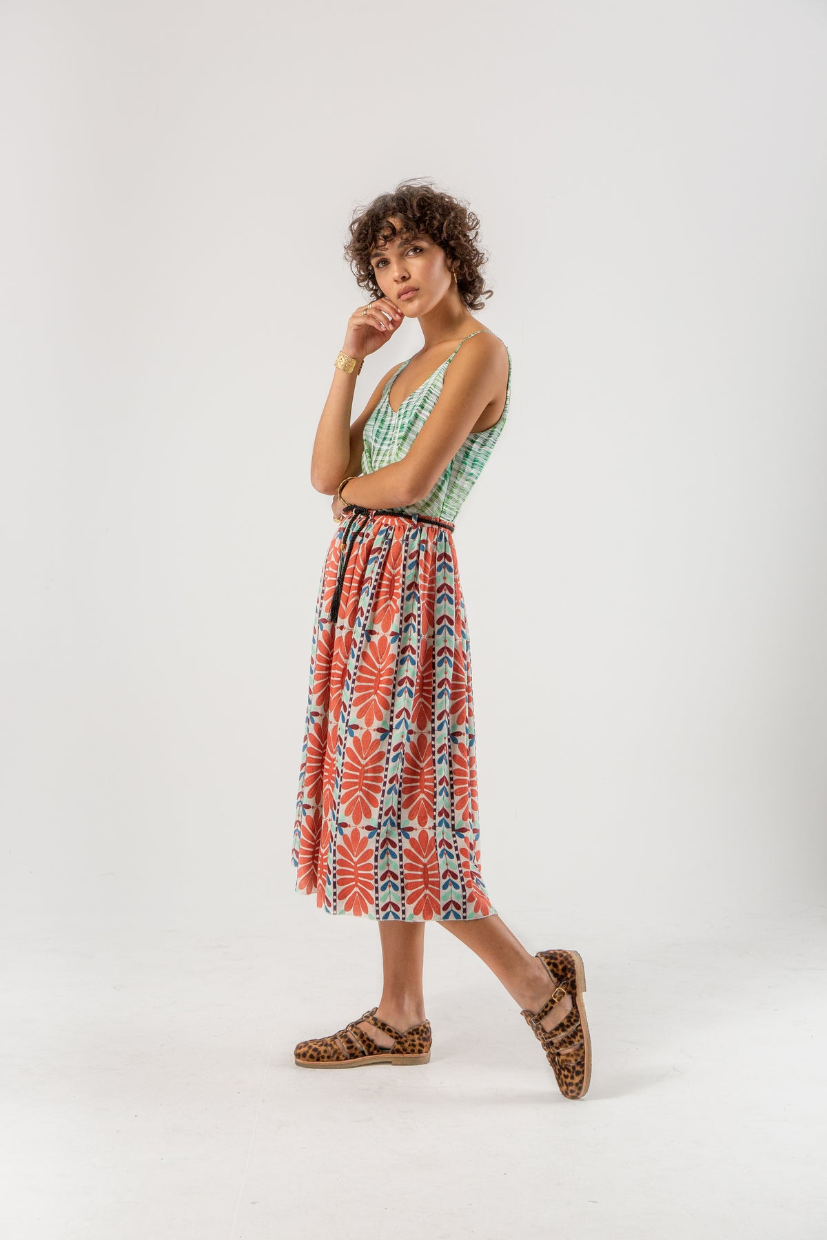 Orso dress in mexican embroidery