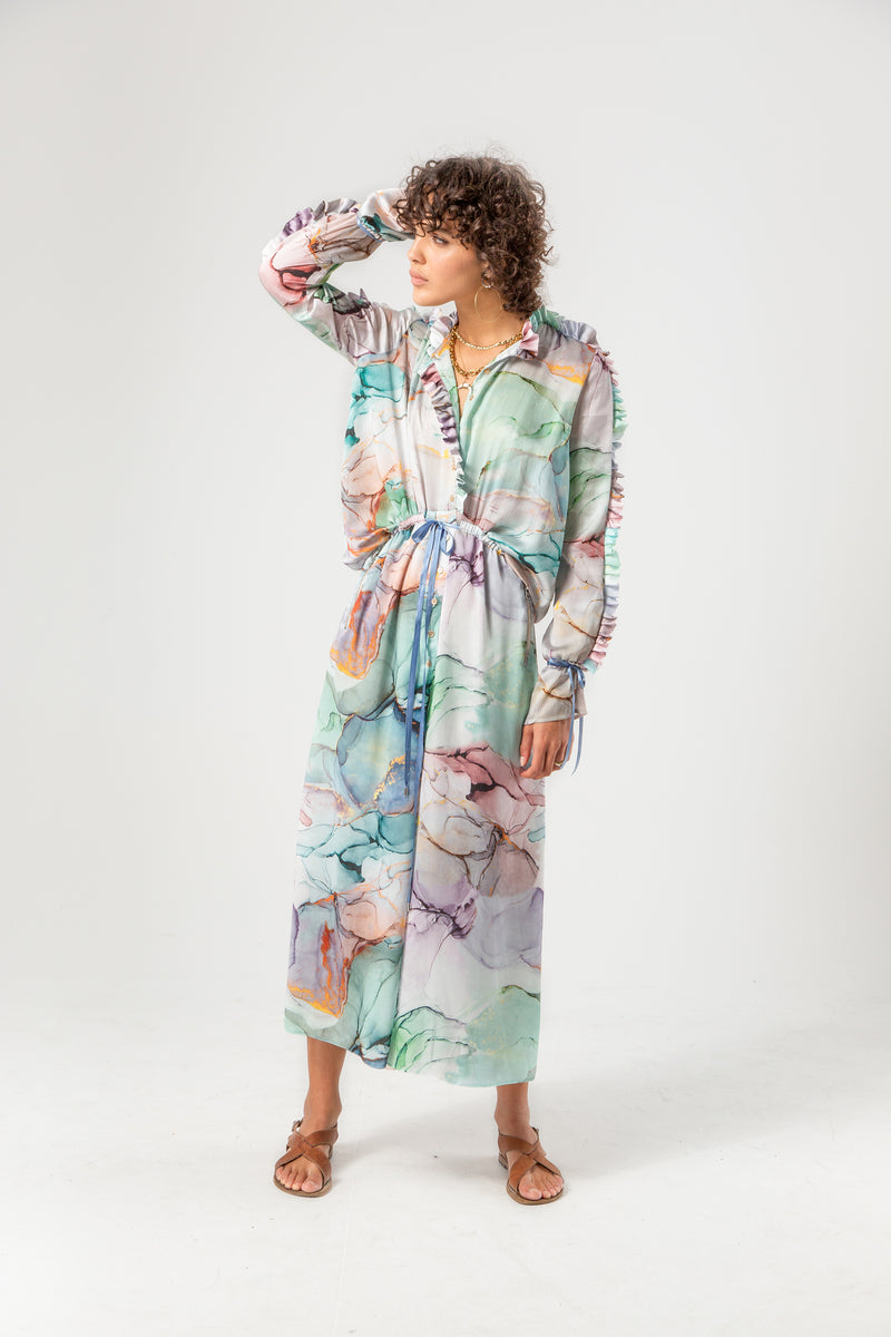 Gil jumpsuit in aquarelle print