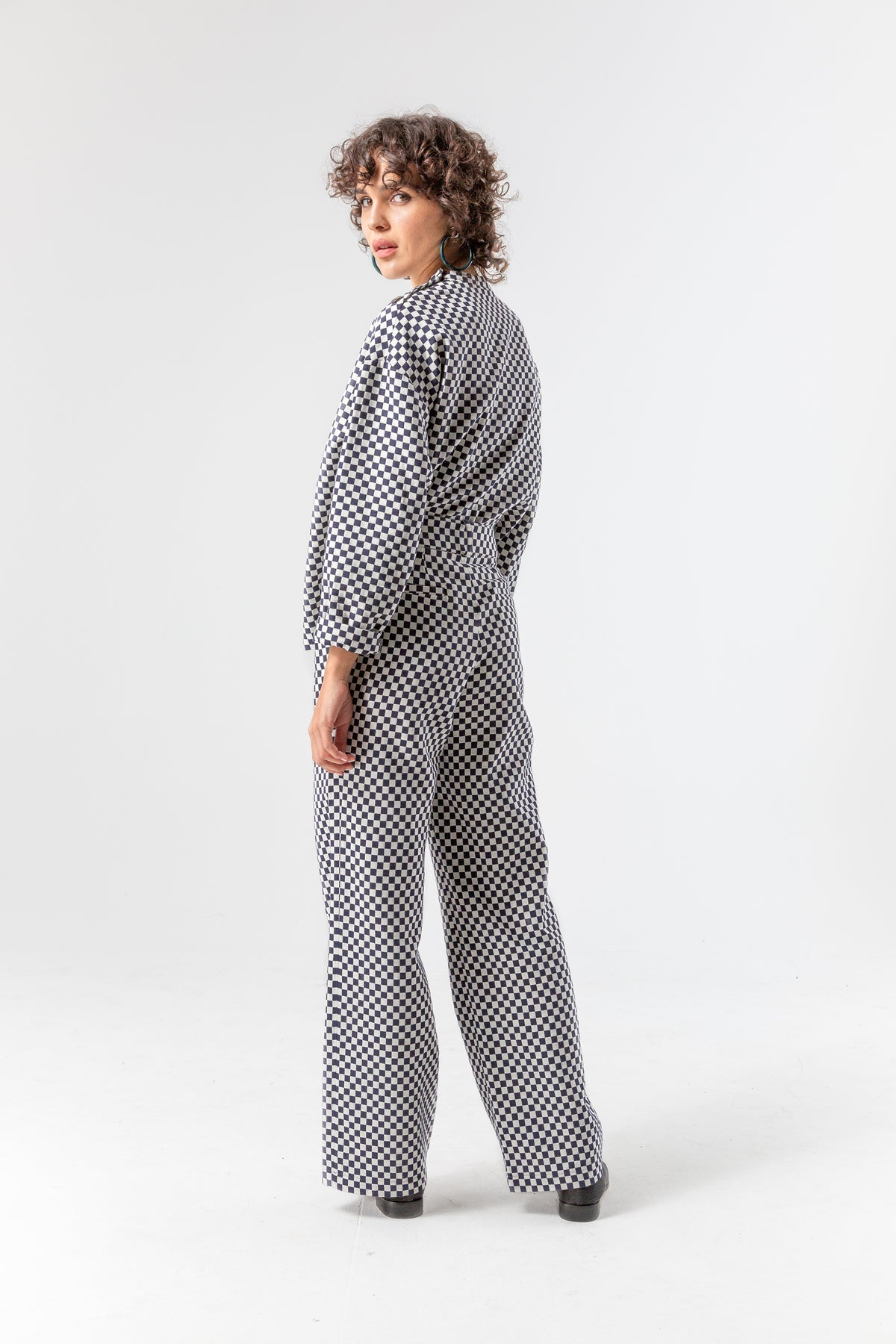 Moor pants in chequered jacquard