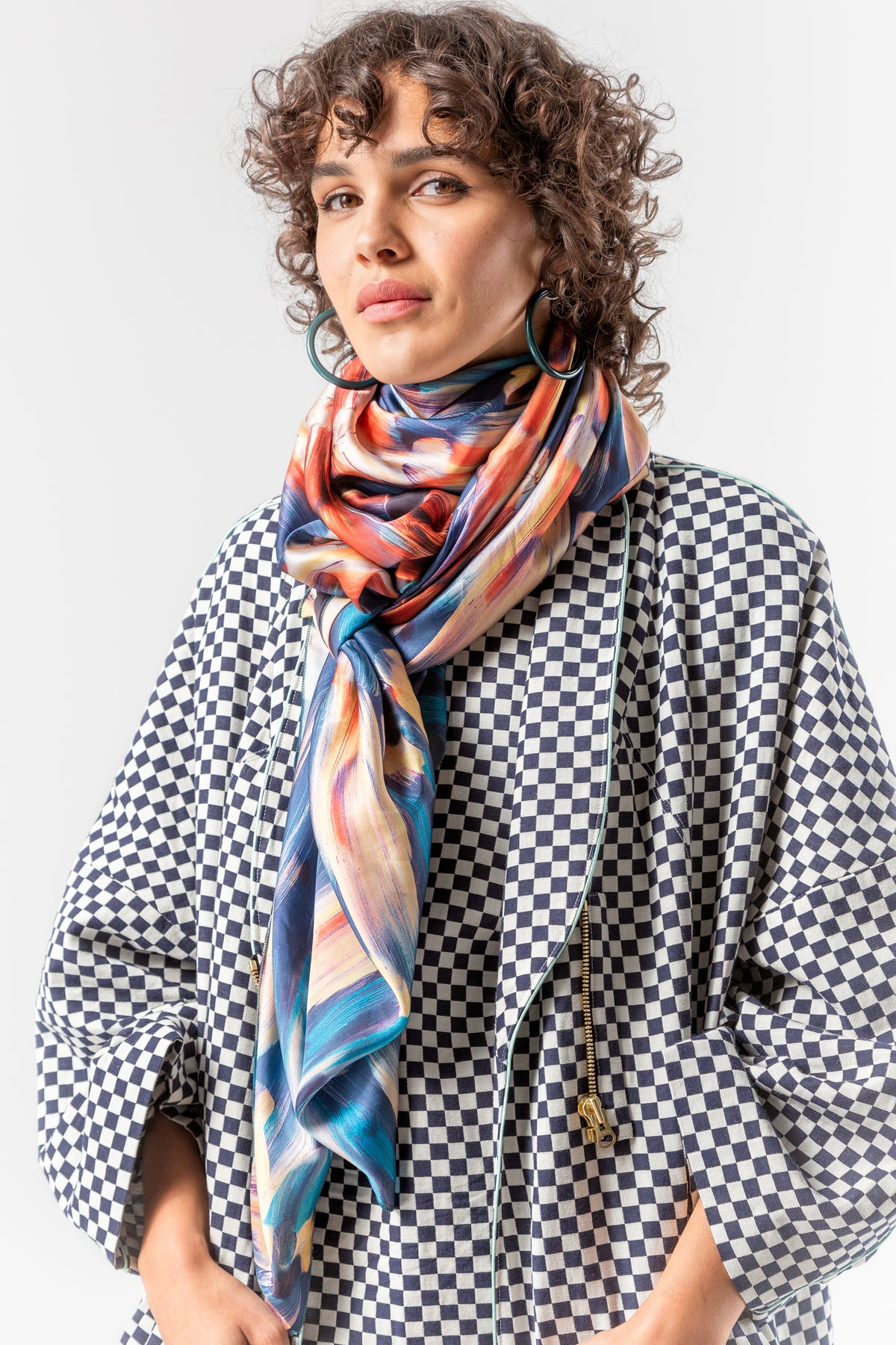Scarf carré in ivresse print