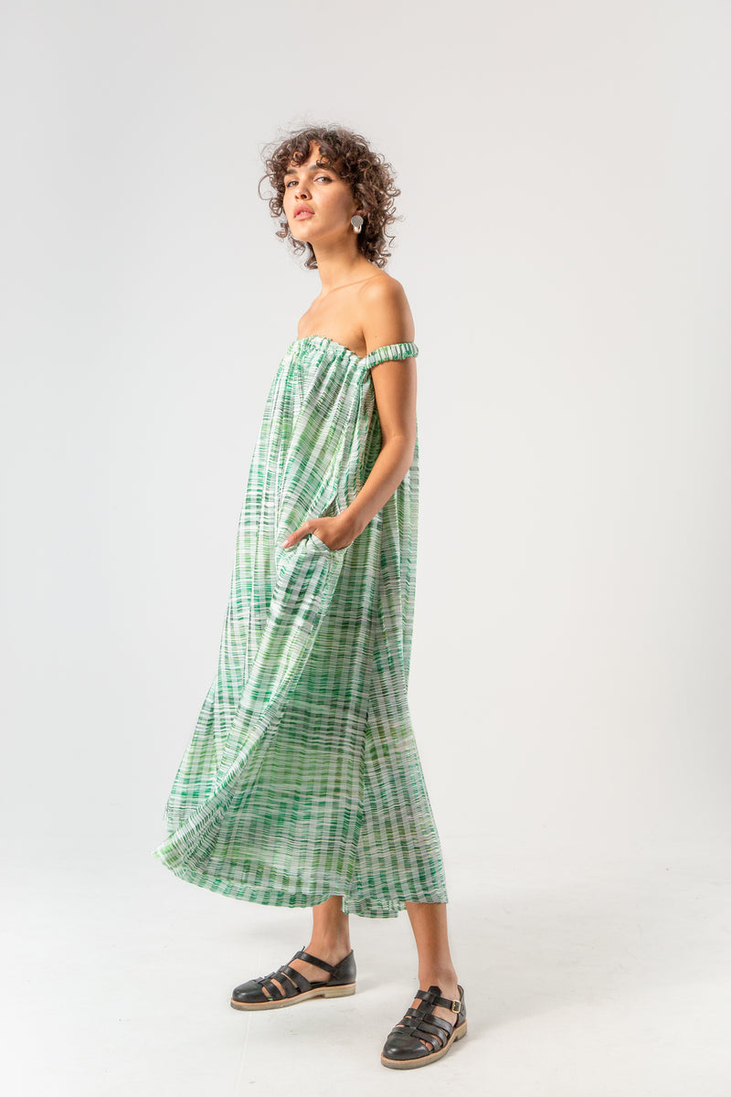 Penelope dress in pampa weaving